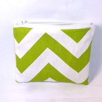 Chevron change purse green chevron zipper by redmorningstudios