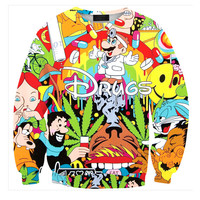 Womens Mens 3D Print Realistic Space Galaxy Animals Hoodie Sweatshirt Top Jumper Sws-0427