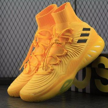VON3TL Sale Adidas Crazy Explosive 2017 PK PrimeKnit Boost Mid Yellow Basketball Shoes BY4472 Sneaker