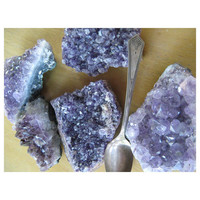 AMETHYST - Natural Clusters - Natural Plum Color - Real Purple