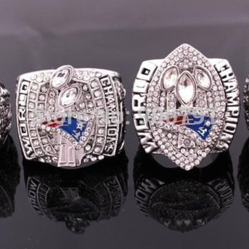 replica rhodium plated  2001 2003 2004 2015  England Patriots MVP Super Bowl World Championship