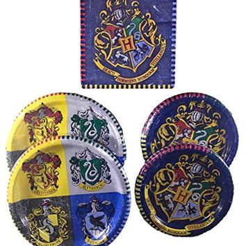 Harry Potter - Birthday Party Supplies - Tableware Bundle Pack for 16 Guests