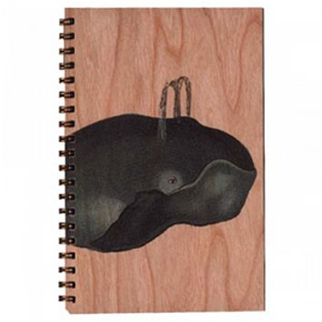 Wood Notebook Whale Large