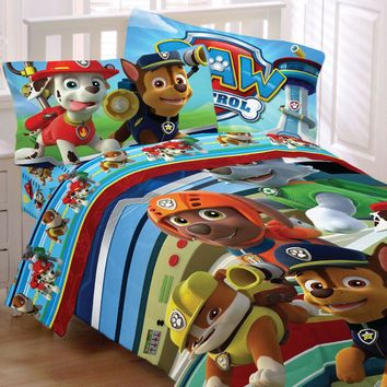 Paw Patrol Bedding Set Puppy Hero Comforter and Sheet Set