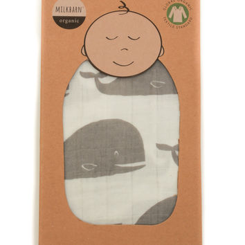 Swaddle Blanket- Whale
