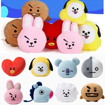 KPOP BTS Bangtan Boys Army   BT21  VAN SHOOKY COOKY TATA CHIMMY SHOOKY Pillow Stuffed Plush Toy Doll Cushion Hugging Costume Decor BT21 Pillow AT_89_10