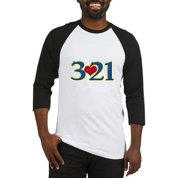 321 Down Syndrome Awareness Day Baseball Tee
