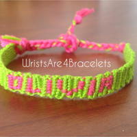 Custom Name or Word Friendship Bracelet