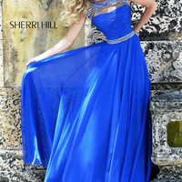 Sherri Hill 11181 Bead Chiffon Prom Dress