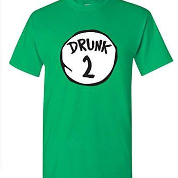Drunk 2 Drinking Irish Beer Group College Party Mens St Patricks Day T Shirt