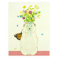 Honey Bear Vase Card