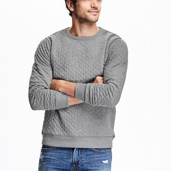 Old Navy Mens Quilted Fleece Sweatshirt