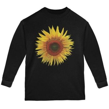 ONETOW Giant Sunflower Youth Long Sleeve T Shirt