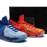 "2017 Nike  Zoom  KD 9  Kevin Durant Ⅸ  Mens"" Ice and Fire"" Basketball Shoes"