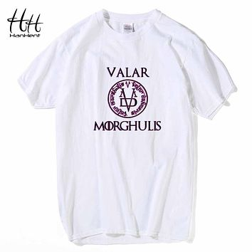 HanHent Valar Morghulis Game Of Thrones T Shirts Men Fashion Summer T Shirts All Men Must Die Male Printed T-shirts Tees TH0591