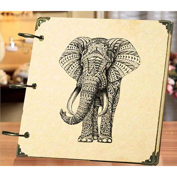 Sketch Retro Elephant  Photo Album