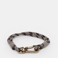 ASOS Rope Bracelet In Grey