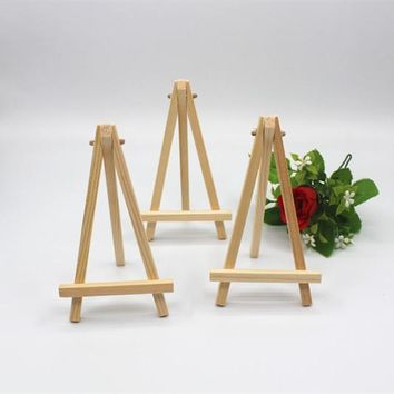 15pcs Mini Display Miniature Easel Wedding Table Number Place Name/Photo Card Stand 16*9cm