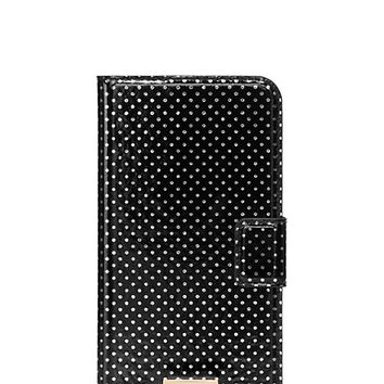 Kate Spade Tiny Gold Dot Iphone 6 Plus Folio Black ONE