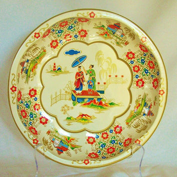 Daher Decorated Ware Metal Bowl 1971 England  by 4oldtimesandnew