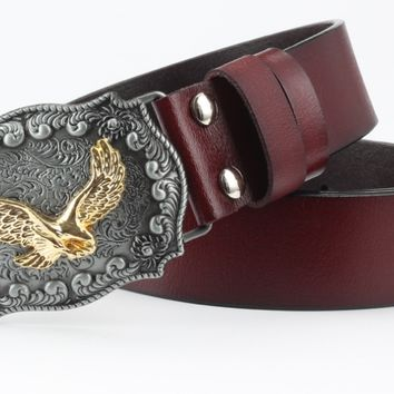 Cow leather bottom leather belt buckle leather belt pure leather.