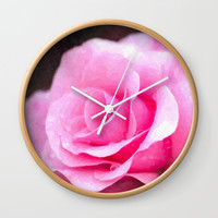 wild wild rose Wall Clock by fotolife