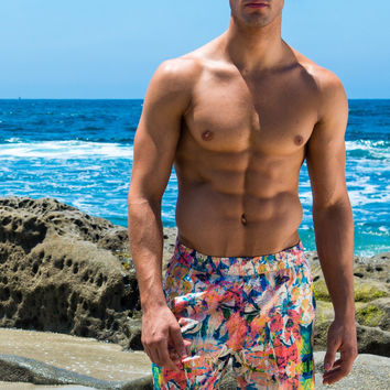 Sauvage Capri Mid-lenght Beach Trunk - Festival