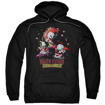 Killer Klowns From Outer Space Hoodie Popcorn Black Hoody