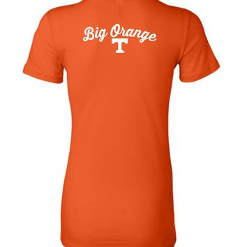 Official NCAA University of Tennessee Volunteers, Knoxville Vols UT UTK Women's Big Orange T Ladies Favorite Tee - 35TN-14