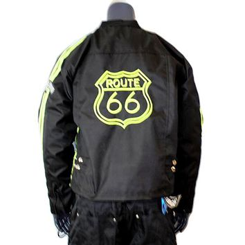 MOTORCYCLE All WEATHER JACKET Route 66 CHEST SIZES 44