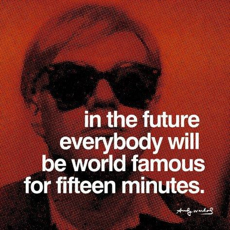 Fifteen Minutes Posters by Andy Warhol