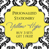 Personalized Stationery  Buy 3 get 1 free Custom stationery