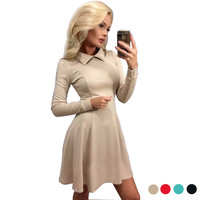 Peter Pan Collar Office Dress Ukraine Black Friday Vestidos Online Shopping India Christmas Winter Dresses Women  DCD-16341
