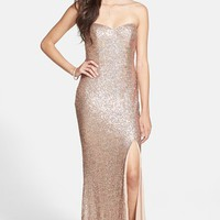 Junior Women's Jump Apparel Strapless Sequin Gown,