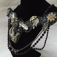 Steampunk Trinket Necklace Neo Vamp Victorian by HopscotchCouture