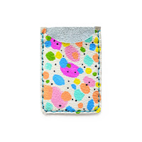 Leather Card Holder, Leather Business Card Holder, Colorful Polka Dot Art Wallet   Boo and Boo Factory - Handmade Leather Jewelry