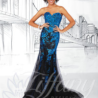 Strapless Sweetheart Formal Prom Dress Tiffany Designs 16025