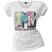 MTV - Color Bars Juniors Boyfriend T-Shirt