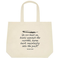The Great Gatsby Tote Bag  Book Bag  Great by NeverMorePrints
