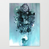 Doom and Bloom Stretched Canvas by Mat Miller