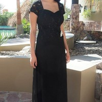 Always And Forever Black Sequin Lace Maxi Dress