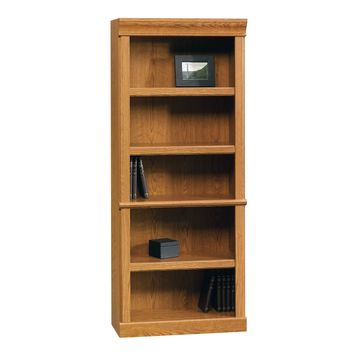 Open Bookcase in Carolina Oak Finish