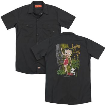 Betty Boop - Luau Lady (Back Print) Adult Work Shirt
