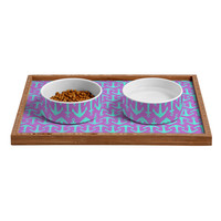 Allyson Johnson Purple Anchors Pet Bowl and Tray