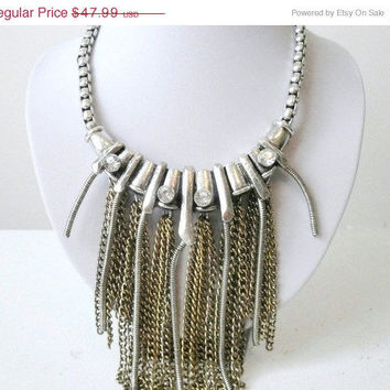 Free Shipping: Statement Necklaces, Big Chunky Necklaces, Rhinestones Statement Necklace, Complimentary Earrings