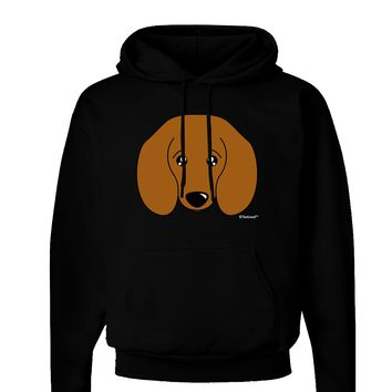 Cute Doxie Dachshund Dog Dark Hoodie Sweatshirt by TooLoud