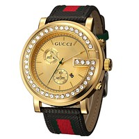 Perfect Gucci Ladies Men Quartz Stripe Watches Wrist Watch