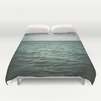 Into The Sea Of Lost Souls  Duvet Cover by Faded  Photos