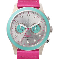 Women's Flamingo Brasco Leather Strap Chronograph Watch