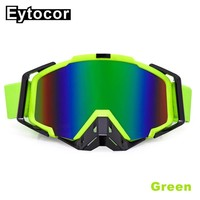 EYTOCOR Anti-radiation Men Women Motorcycle Helmet Goggles Glasses Ski Sport Gafas for Motorcycle Dirt Bike Racing Google